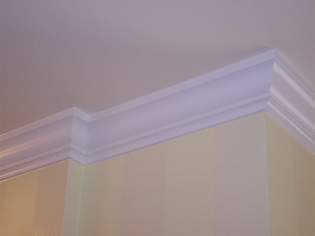 Crown Molding expertly installed and painted in York Region